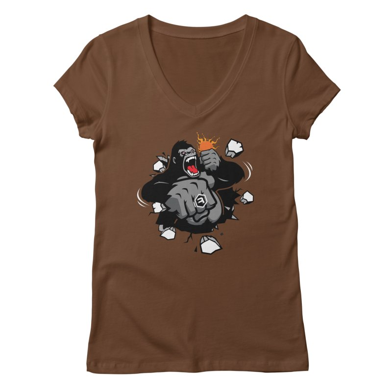 Gorilla Punch Women's Regular V-Neck by RevolutionTradingCo