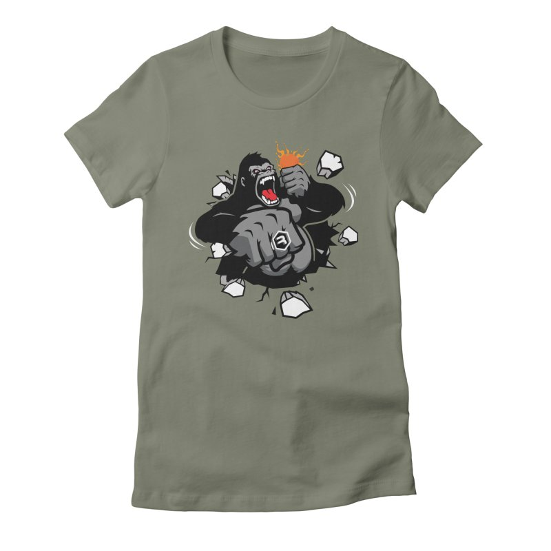 Gorilla Punch Women's Fitted T-Shirt by RevolutionTradingCo