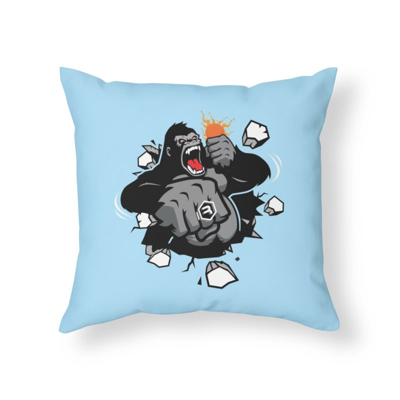 Gorilla Punch Home Throw Pillow by RevolutionTradingCo
