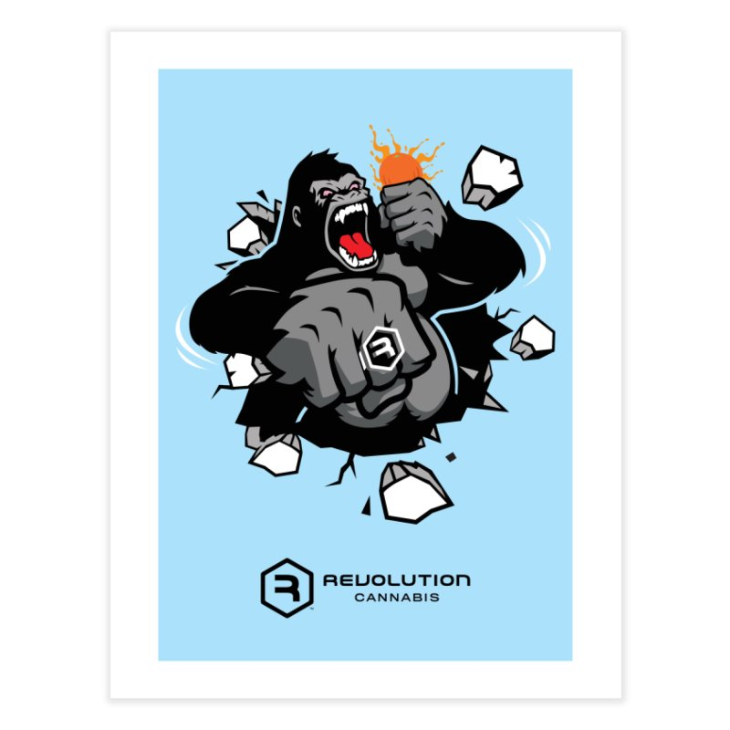 Gorilla Punch Home Fine Art Print by RevolutionTradingCo