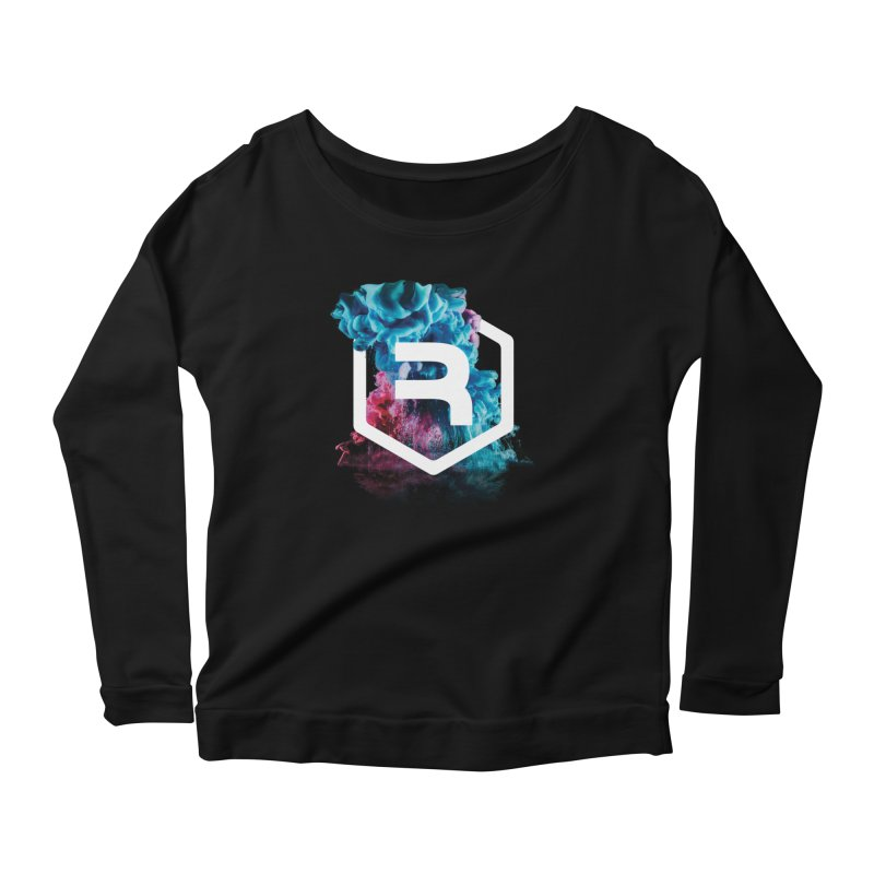 RevSmoke in Women's Scoop Neck Longsleeve T-Shirt Black by RevolutionTradingCo