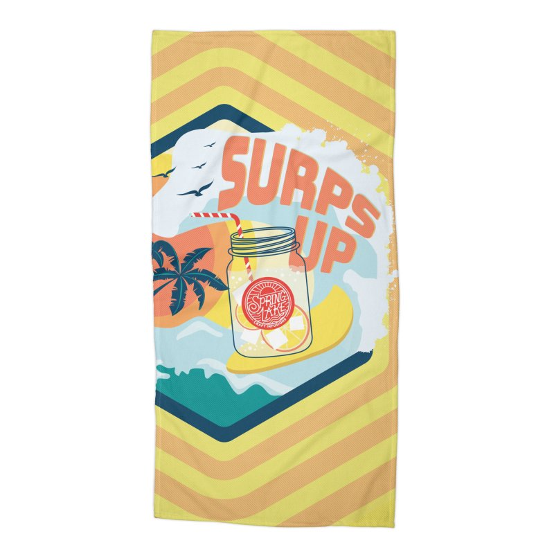 Surps Up in Beach Towel by RevolutionTradingCo