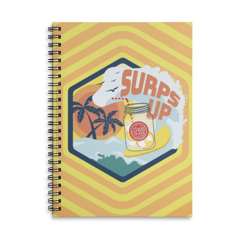 Surps Up Accessories Lined Spiral Notebook by RevolutionTradingCo