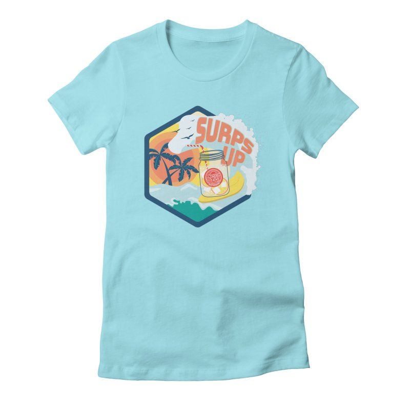 Surps Up in Women's Fitted T-Shirt Cancun by RevolutionTradingCo