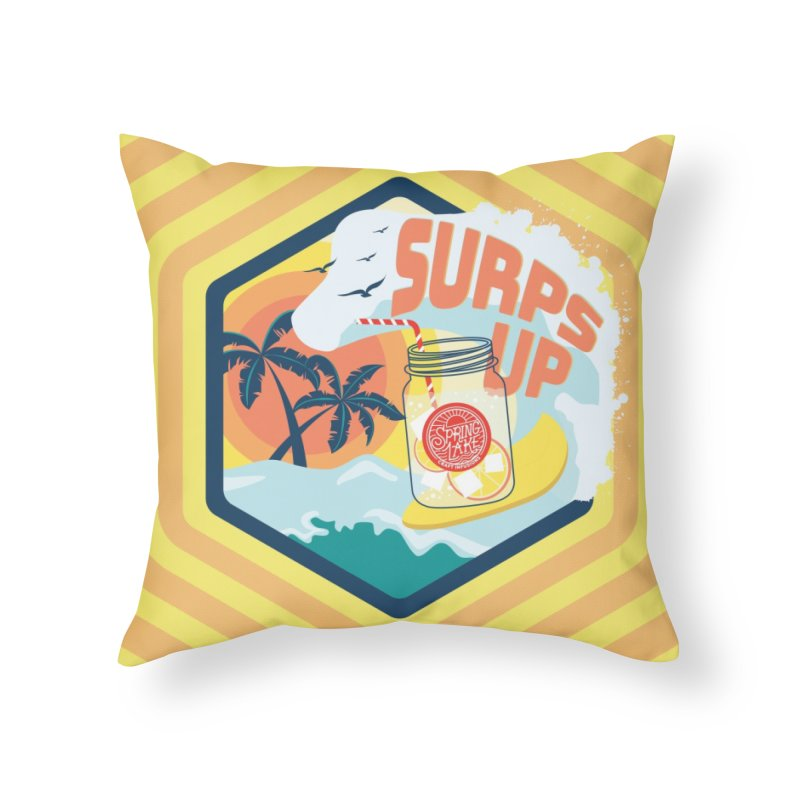 Surps Up Home Throw Pillow by RevolutionTradingCo
