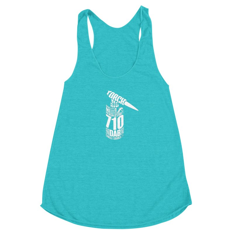 Torch in Women's Racerback Triblend Tank Pacific Blue by RevolutionTradingCo
