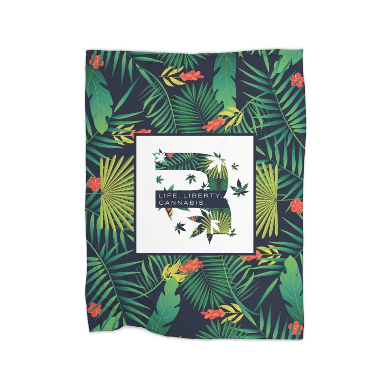 Tropical R Home Fleece Blanket Blanket by RevolutionTradingCo