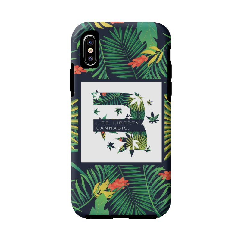 Tropical R in iPhone X / XS Phone Case Tough by RevolutionTradingCo
