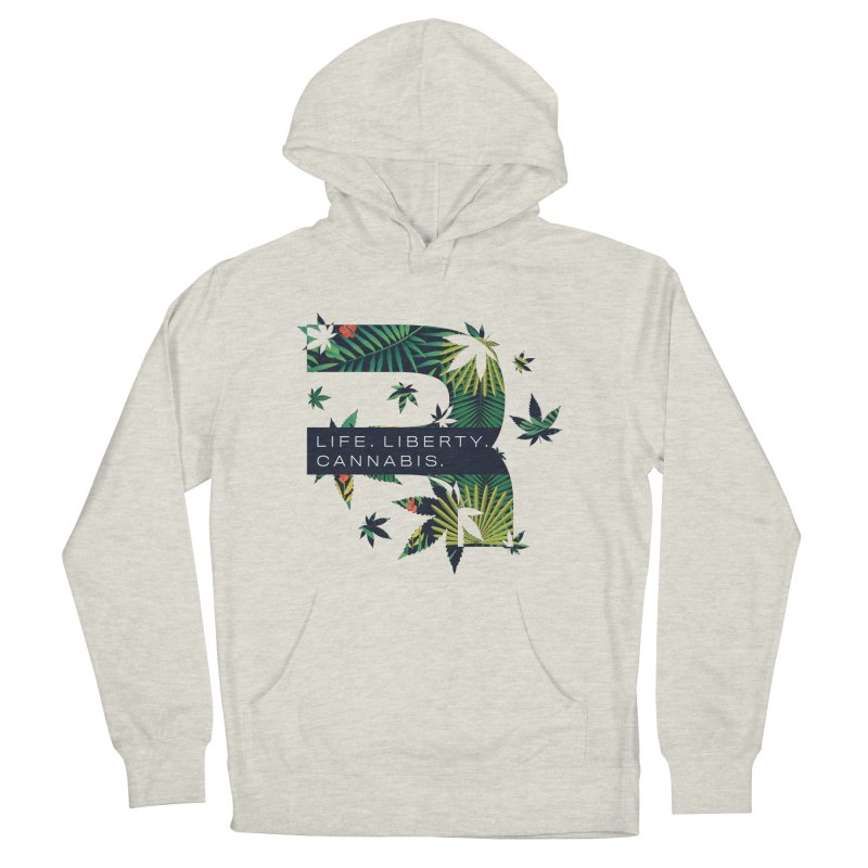 Tropical R in Women's French Terry Pullover Hoody Heather Oatmeal by RevolutionTradingCo