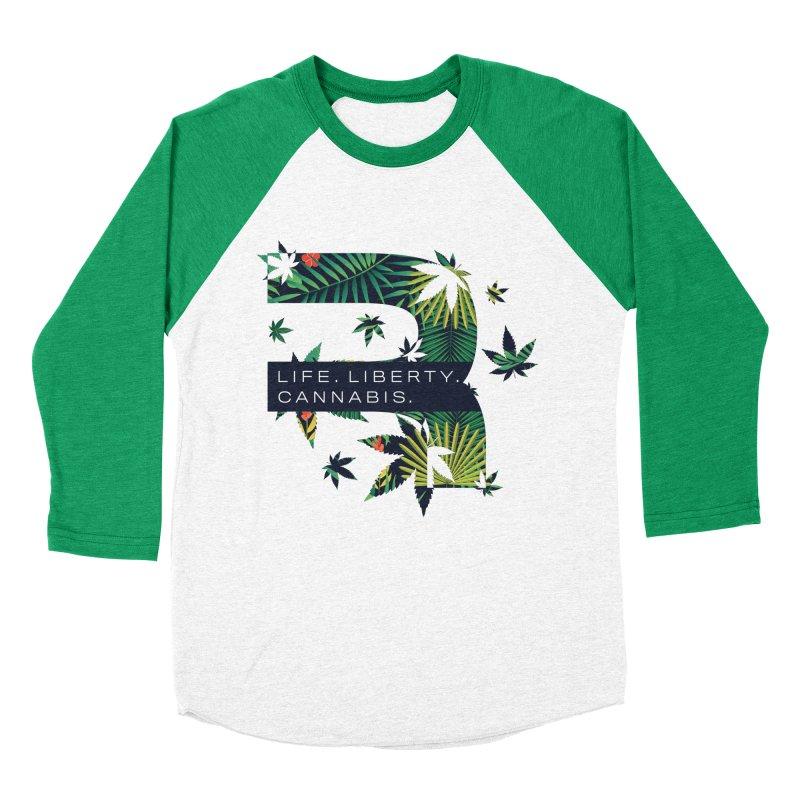 Tropical R Men's Baseball Triblend Longsleeve T-Shirt by RevolutionTradingCo