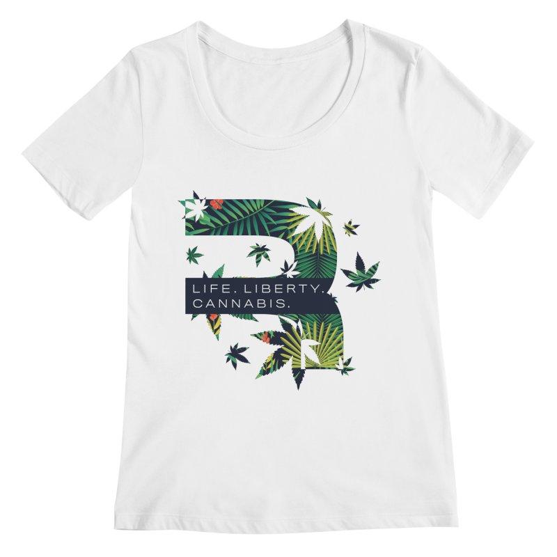 Tropical R Women's Regular Scoop Neck by RevolutionTradingCo