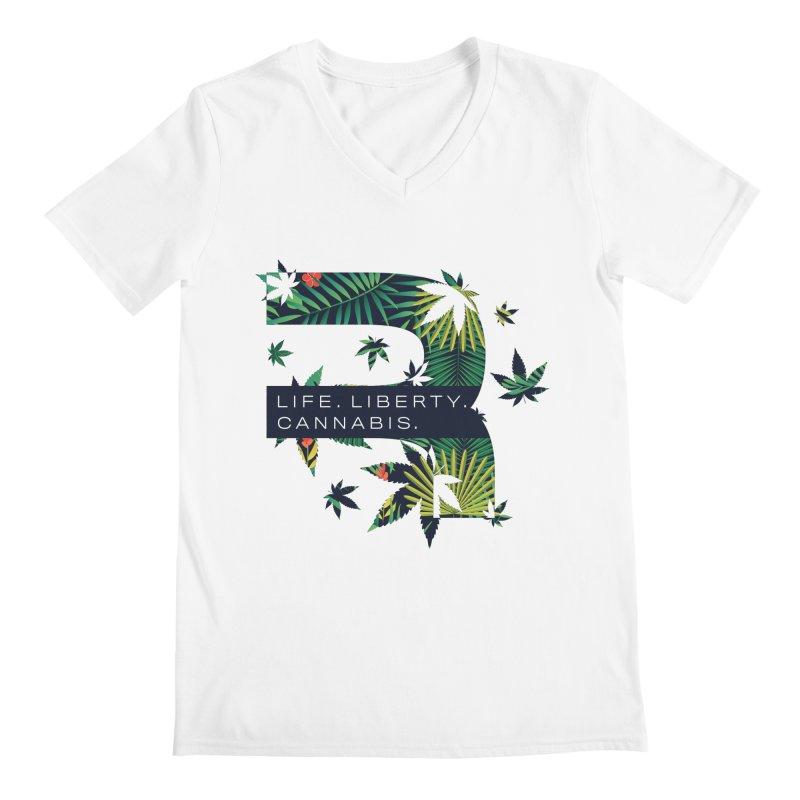 Tropical R Men's V-Neck by RevolutionTradingCo