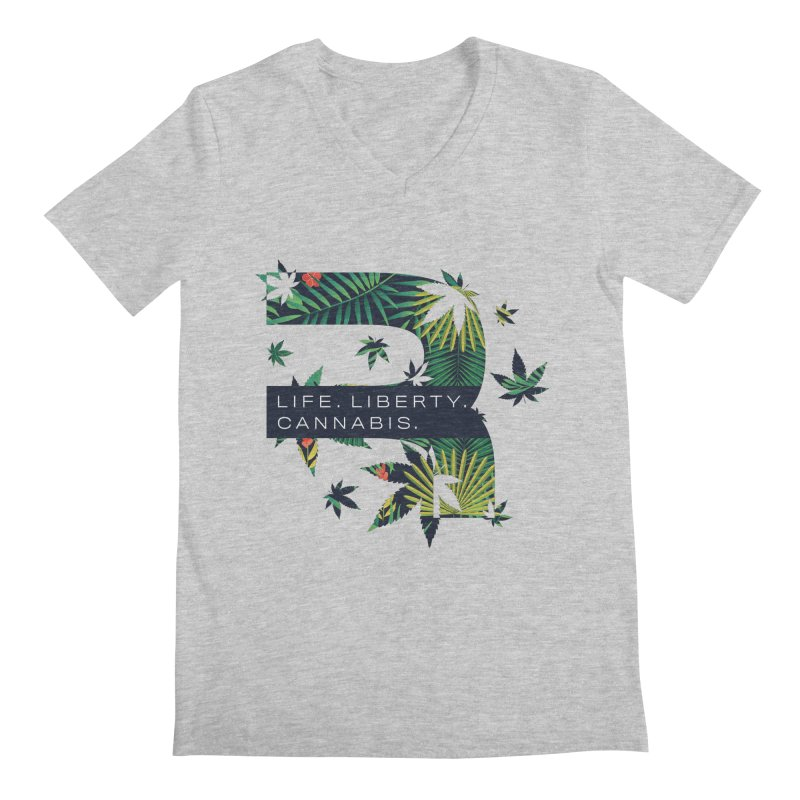 Tropical R Men's Regular V-Neck by RevolutionTradingCo