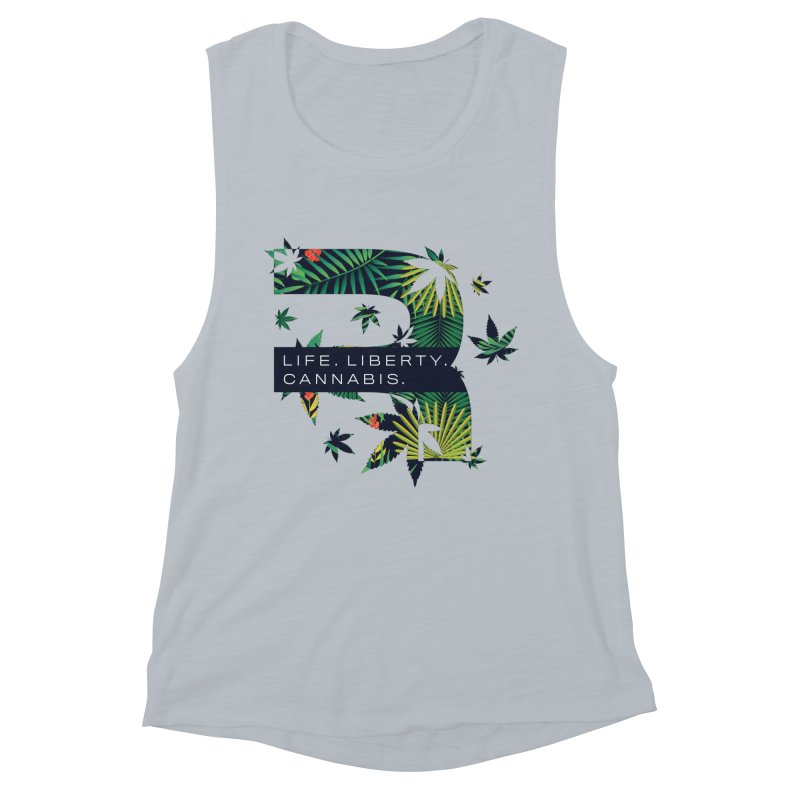 Tropical R Women's Muscle Tank by RevolutionTradingCo