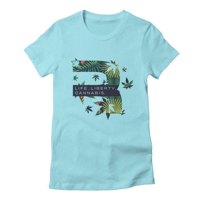 Tropical R Women's Fitted T-Shirt by RevolutionTradingCo
