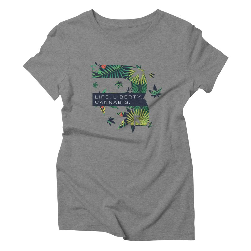 Tropical R Women's Triblend T-Shirt by RevolutionTradingCo