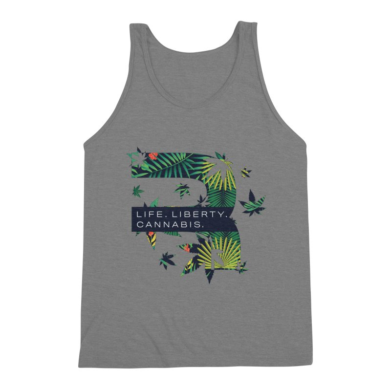 Tropical R Men's Triblend Tank by RevolutionTradingCo