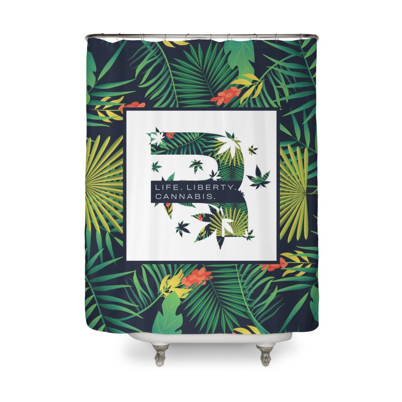 Tropical R Home Shower Curtain by RevolutionTradingCo