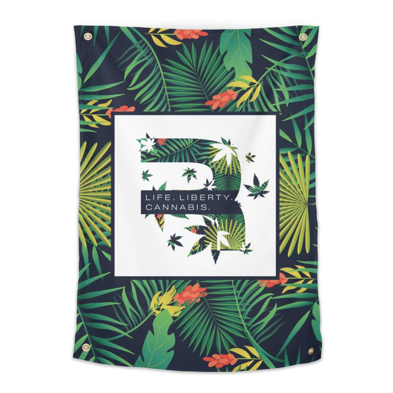 Tropical R Home Tapestry by RevolutionTradingCo