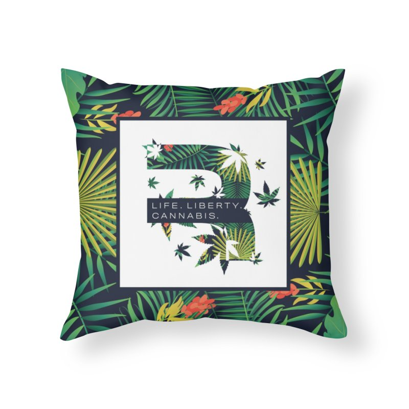 Tropical R Home Throw Pillow by RevolutionTradingCo