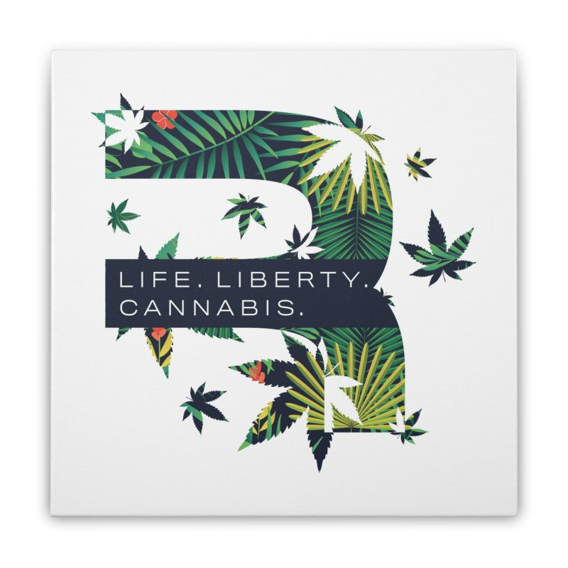 Tropical R Home Stretched Canvas by RevolutionTradingCo