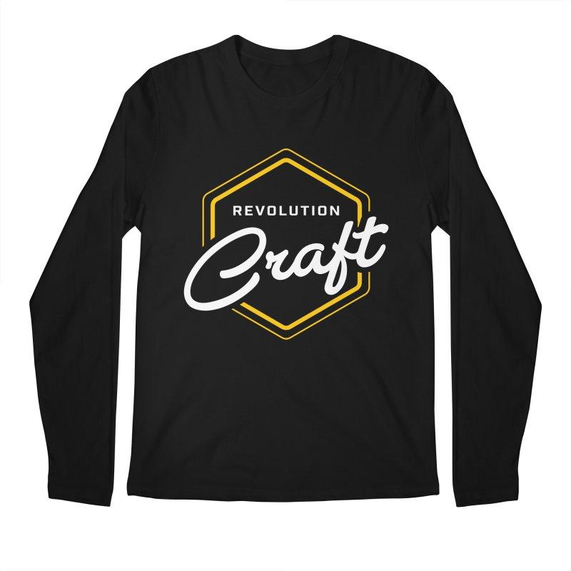 Revolution Craft in Men's Regular Longsleeve T-Shirt Black by RevolutionTradingCo