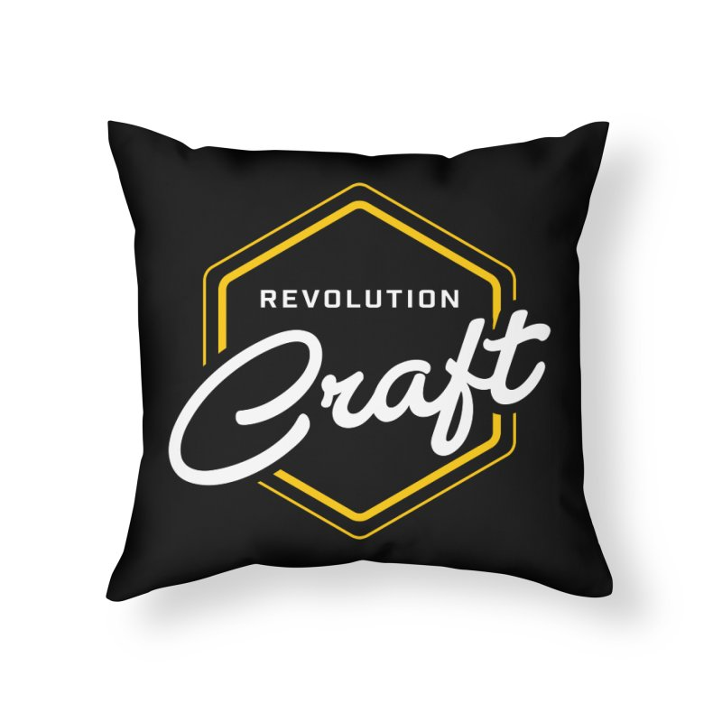 Revolution Craft Home Throw Pillow by RevolutionTradingCo