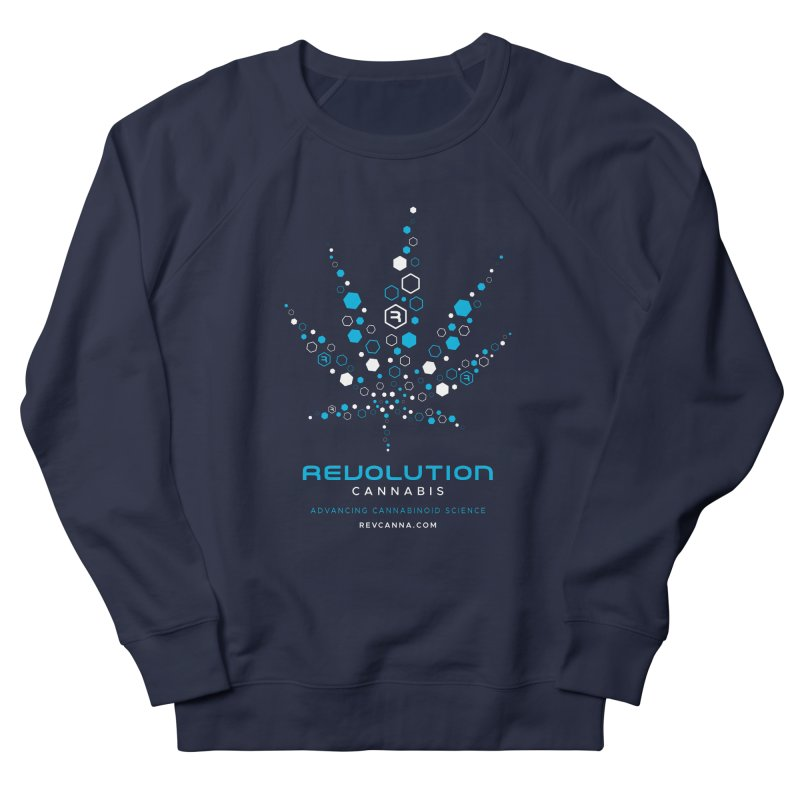 Advancing Cannabinoid Science in Men's French Terry Sweatshirt Navy by RevolutionTradingCo