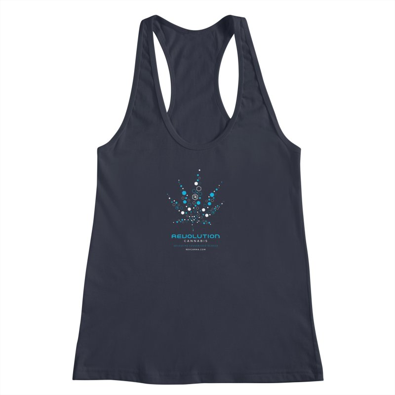 Advancing Cannabinoid Science in Women's Racerback Tank Midnight by RevolutionTradingCo