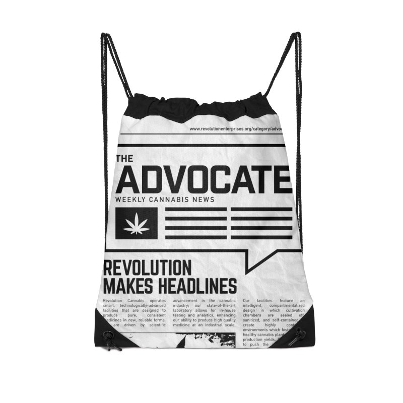 The Advocate Accessories Drawstring Bag Bag by RevolutionTradingCo