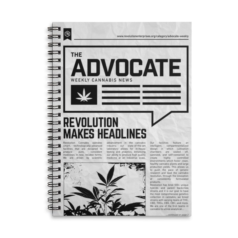The Advocate Accessories Lined Spiral Notebook by RevolutionTradingCo