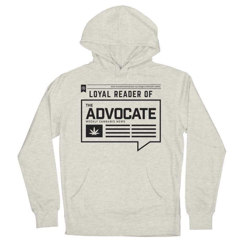 The Advocate in Women's French Terry Pullover Hoody Heather Oatmeal by RevolutionTradingCo