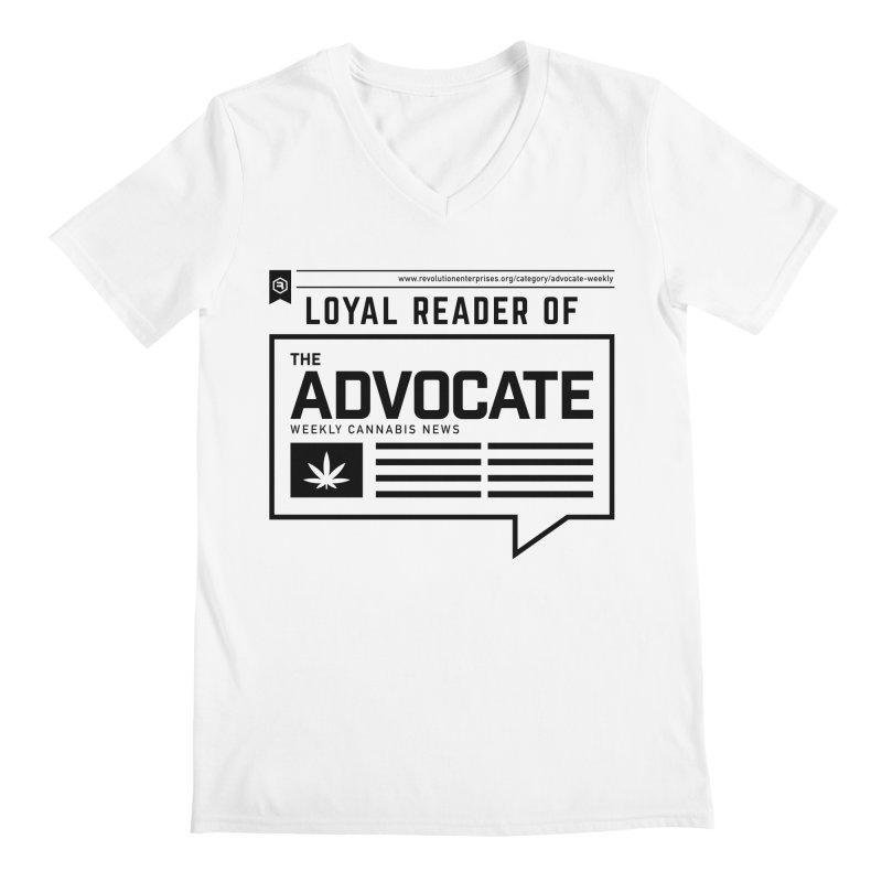 The Advocate Men's V-Neck by RevolutionTradingCo