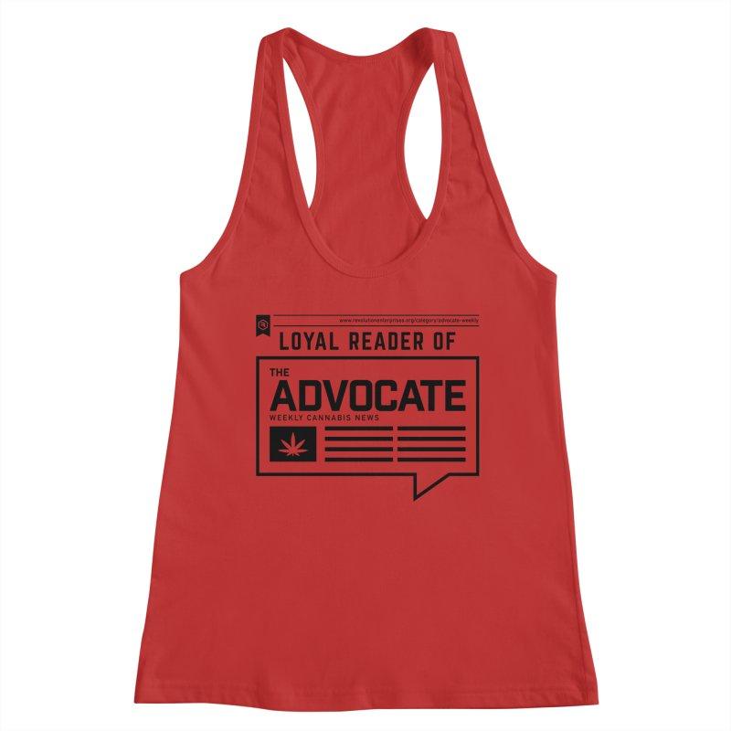 The Advocate Women's Racerback Tank by RevolutionTradingCo
