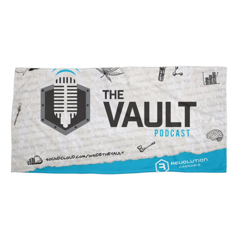 The Vault Podcast Accessories Beach Towel by RevolutionTradingCo