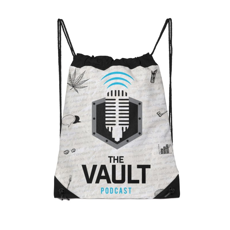 The Vault Podcast Accessories Drawstring Bag Bag by RevolutionTradingCo