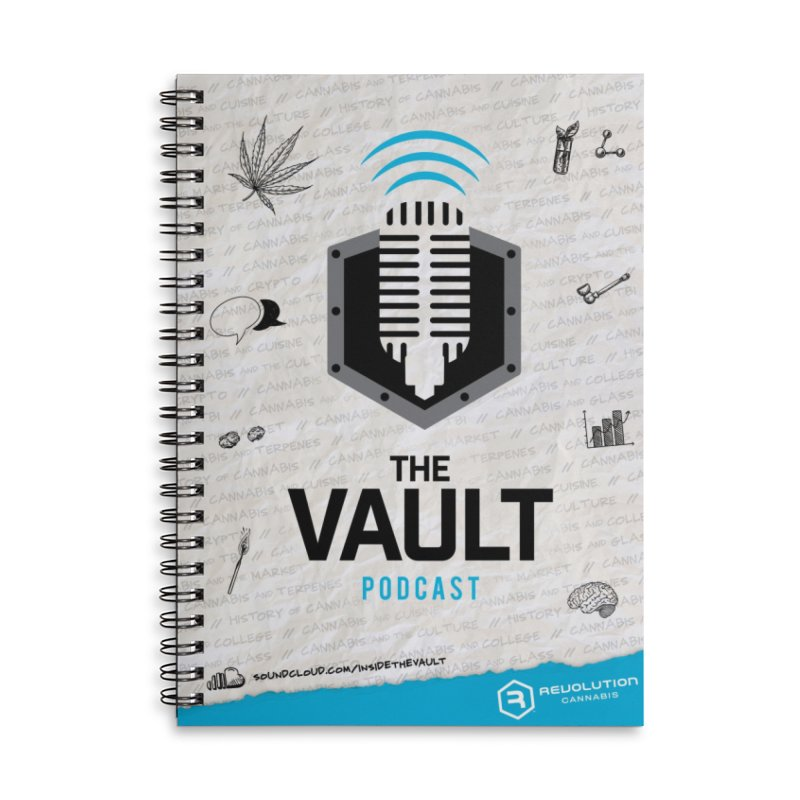 The Vault Podcast Accessories Lined Spiral Notebook by RevolutionTradingCo