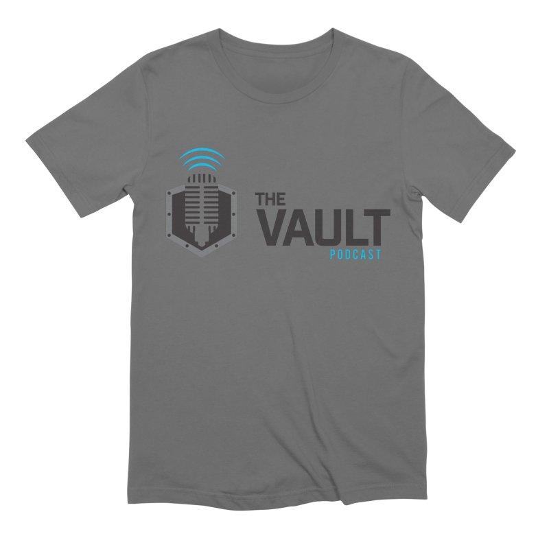 The Vault Podcast in Men's Extra Soft T-Shirt Asphalt by RevolutionTradingCo