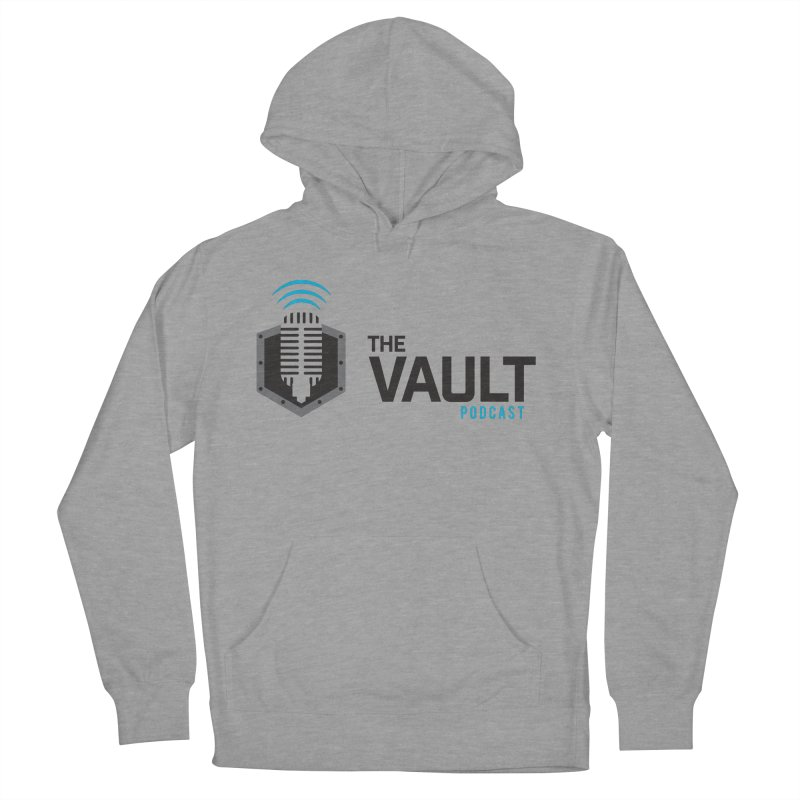 The Vault Podcast in Men's French Terry Pullover Hoody Heather Graphite by RevolutionTradingCo