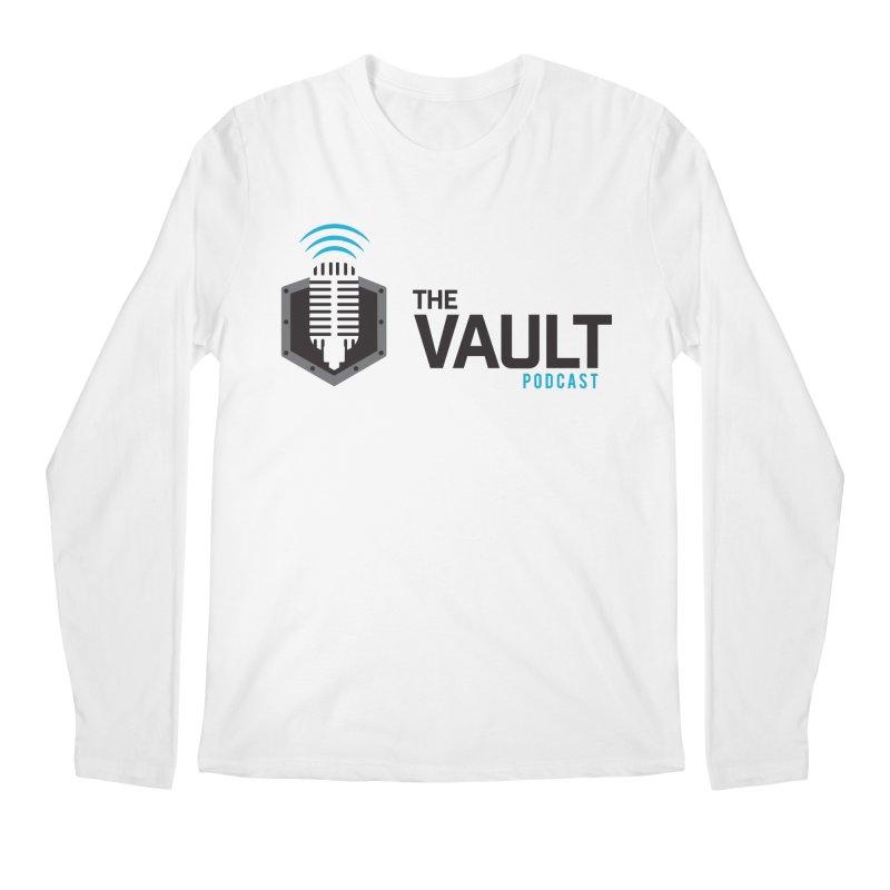 The Vault Podcast in Men's Regular Longsleeve T-Shirt White by RevolutionTradingCo