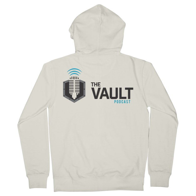 The Vault Podcast Men's French Terry Zip-Up Hoody by RevolutionTradingCo