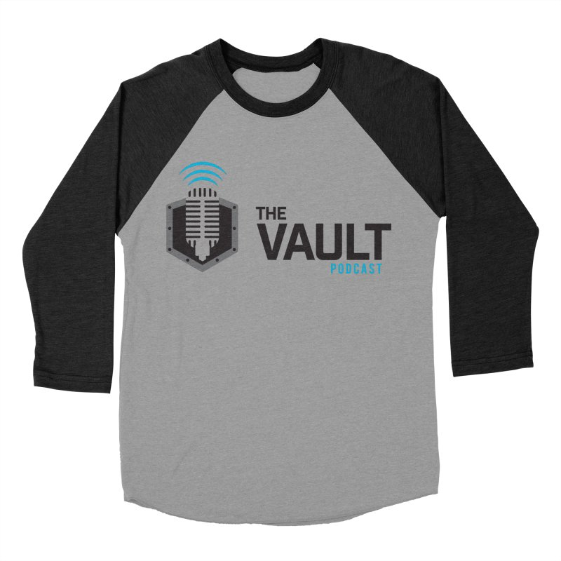 The Vault Podcast in Women's Baseball Triblend Longsleeve T-Shirt Heather Onyx Sleeves by RevolutionTradingCo