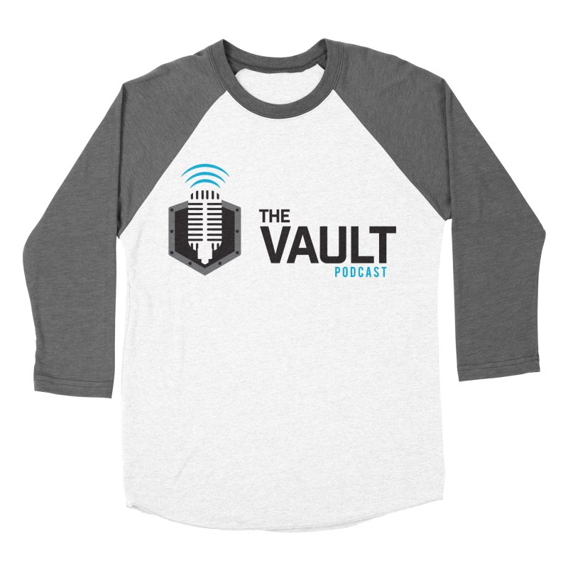 The Vault Podcast Men's Baseball Triblend Longsleeve T-Shirt by RevolutionTradingCo