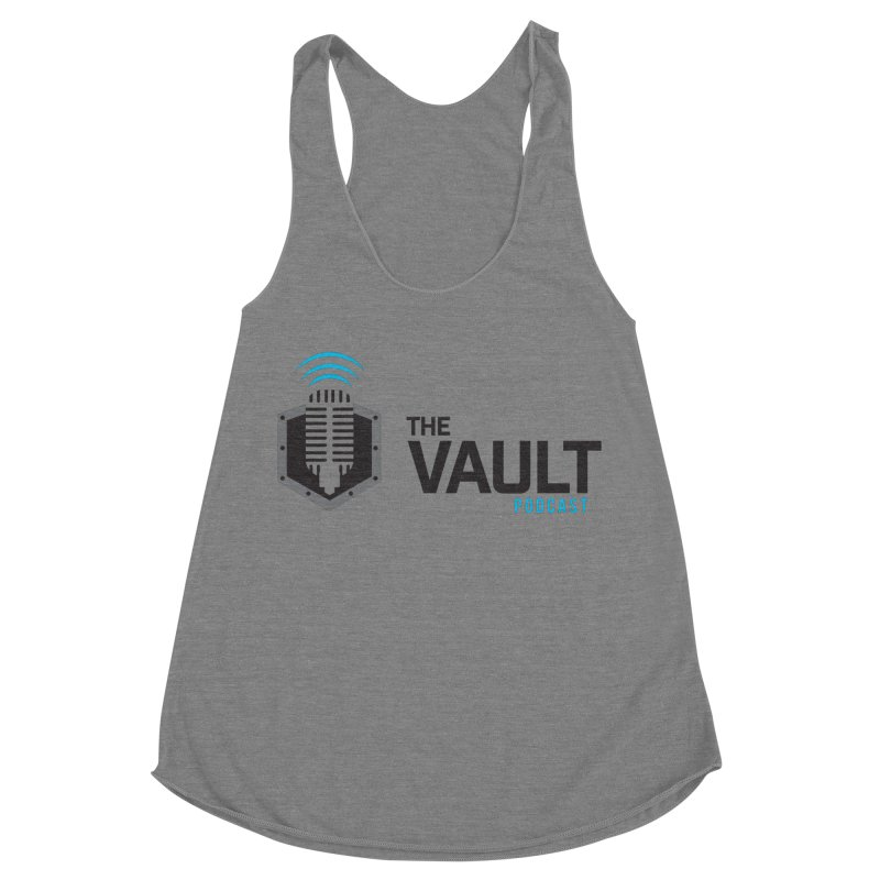The Vault Podcast Women's Racerback Triblend Tank by RevolutionTradingCo