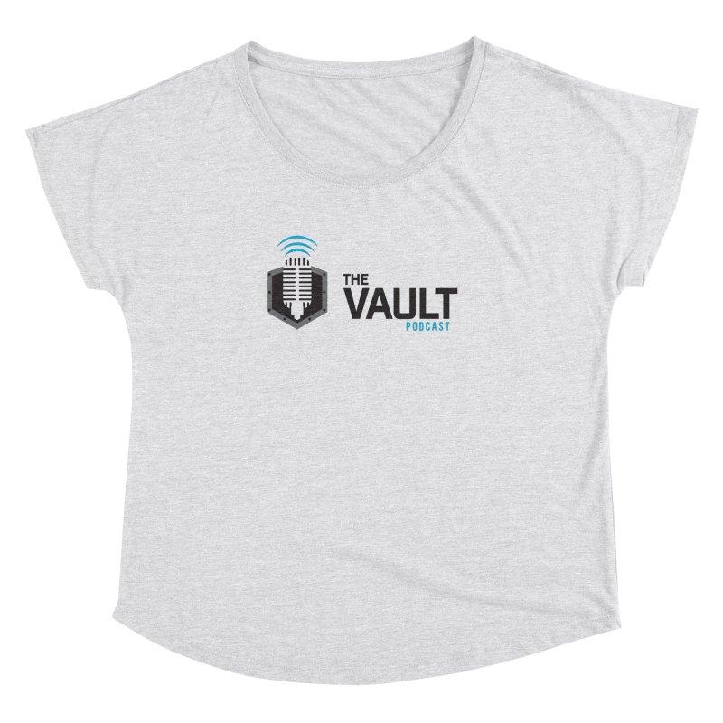 The Vault Podcast Women's Dolman Scoop Neck by RevolutionTradingCo