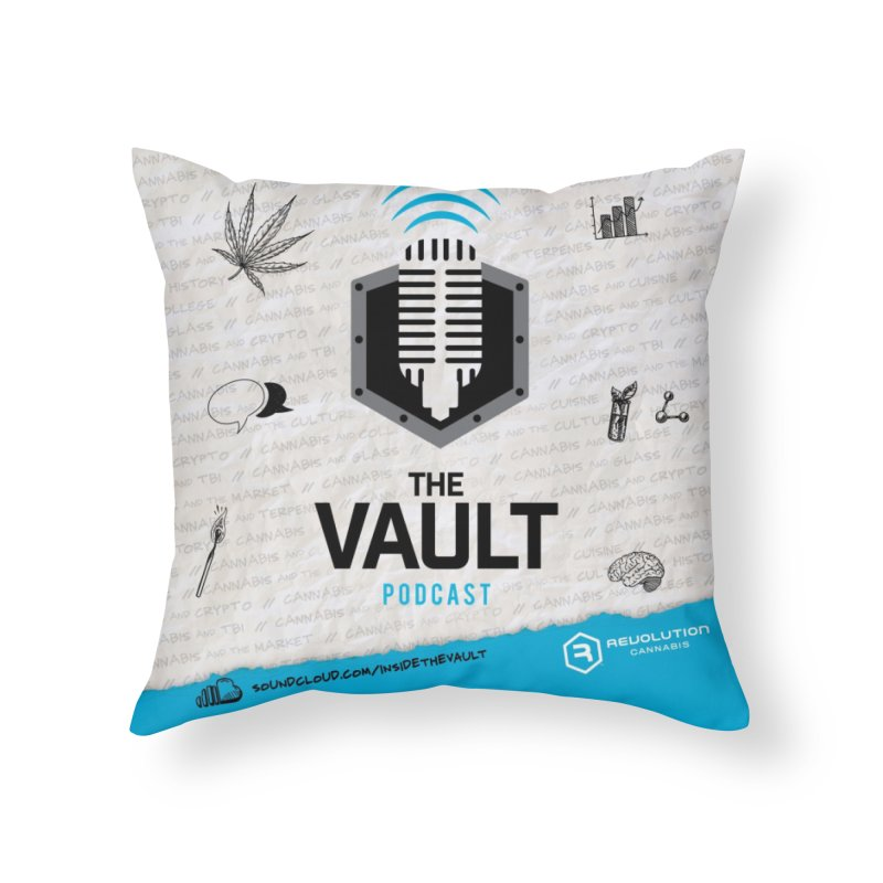 The Vault Podcast Home Throw Pillow by RevolutionTradingCo