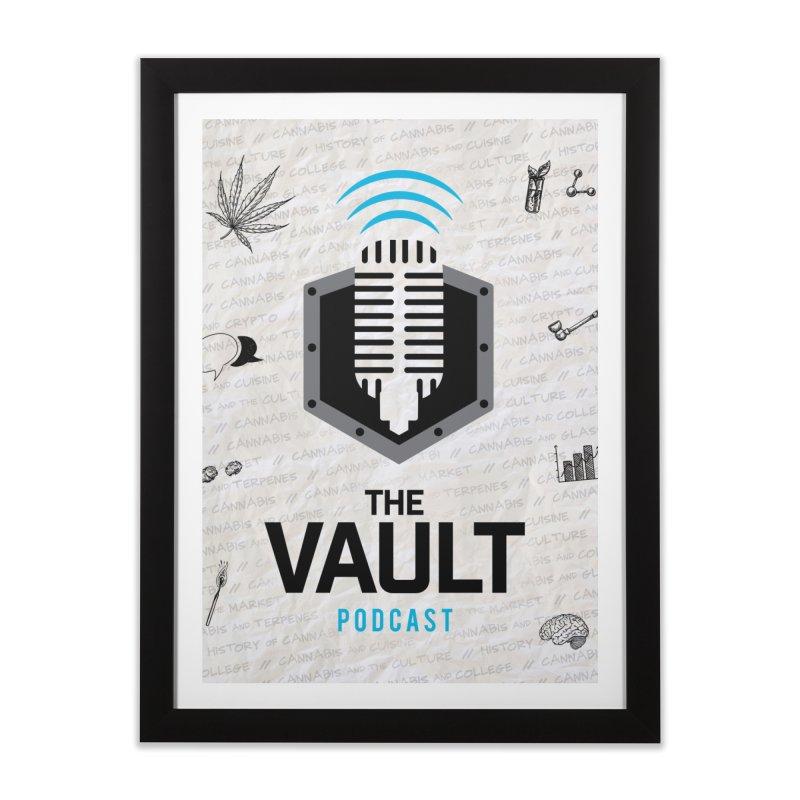The Vault Podcast Home Framed Fine Art Print by RevolutionTradingCo