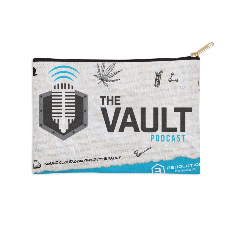 The Vault Podcast Accessories Zip Pouch by RevolutionTradingCo