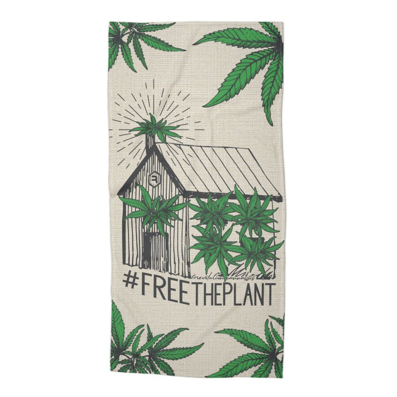 #FreeThePlant Accessories Beach Towel by RevolutionTradingCo