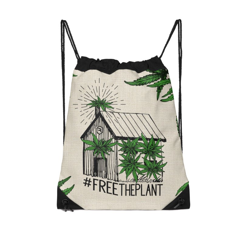 #FreeThePlant Accessories Drawstring Bag Bag by RevolutionTradingCo